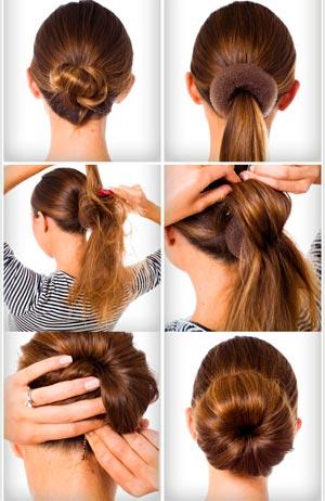 Как сделать своими руками бублик для волос 190