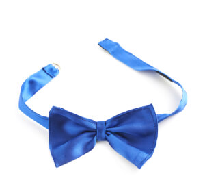 Blue bow tie isulated
