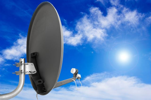 Satellite antenna.