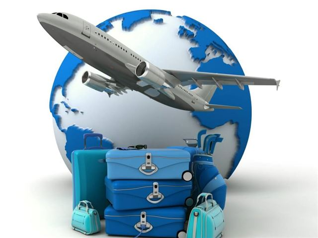 Blue golf trip flight booking