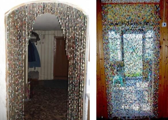 Декоративная штора своими руками на дверной проем
