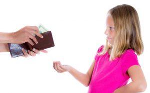 Ребенок с большой суммой денег