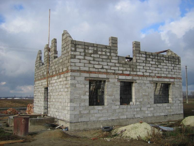 Стройка дома своими руками из пеноблоков видео