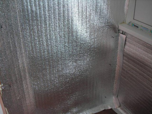 Утепление дома изнутри пенофолом