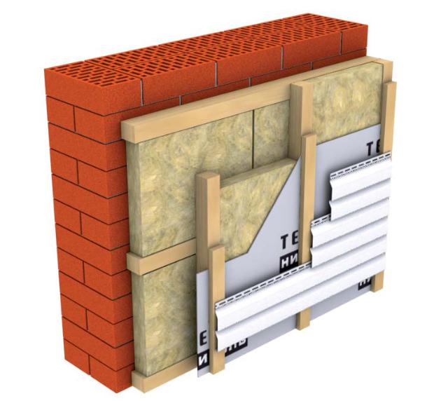 Сайдинг вентилируемый фасад
