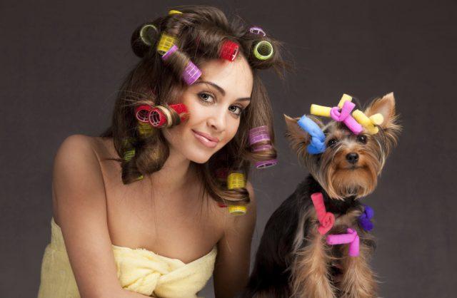 Завить волосы