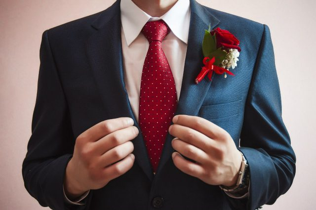 Юлия Гавло галстук букет жених мужчина сборы костюм одежда