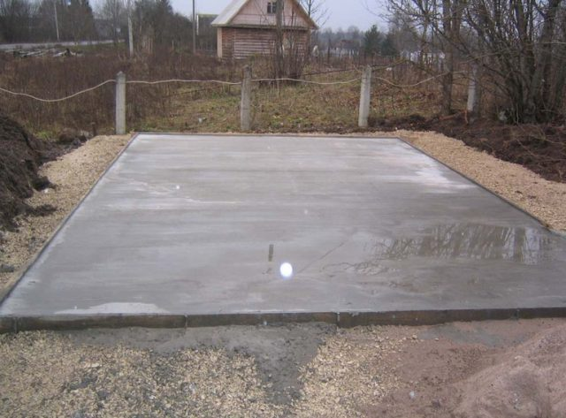 Как залить фундамент бетонная подушка
