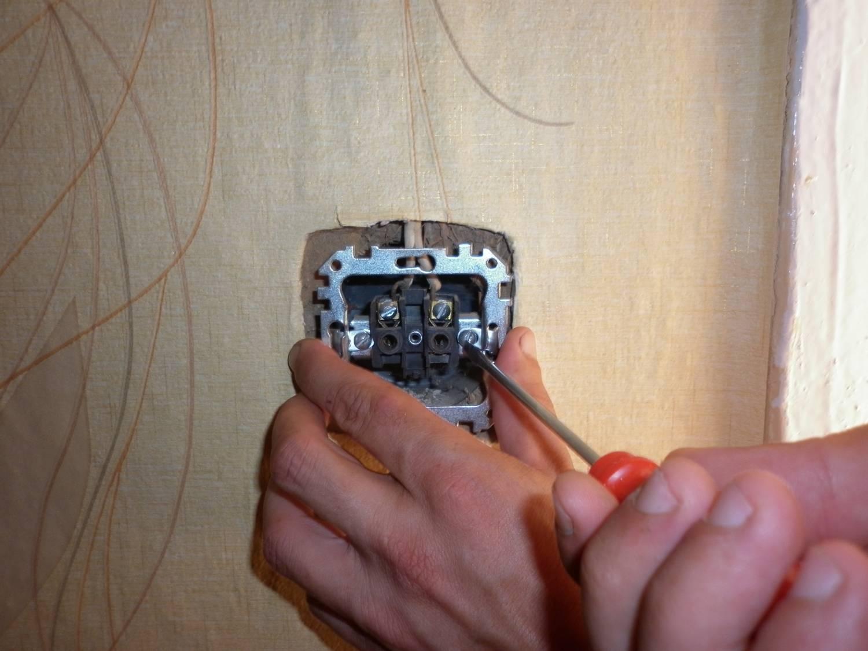 Установка розетки и выключателя своими руками видео