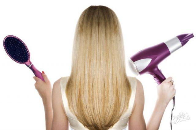 Жечь волосы феном
