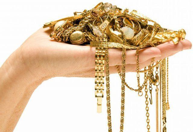 Почистить золото