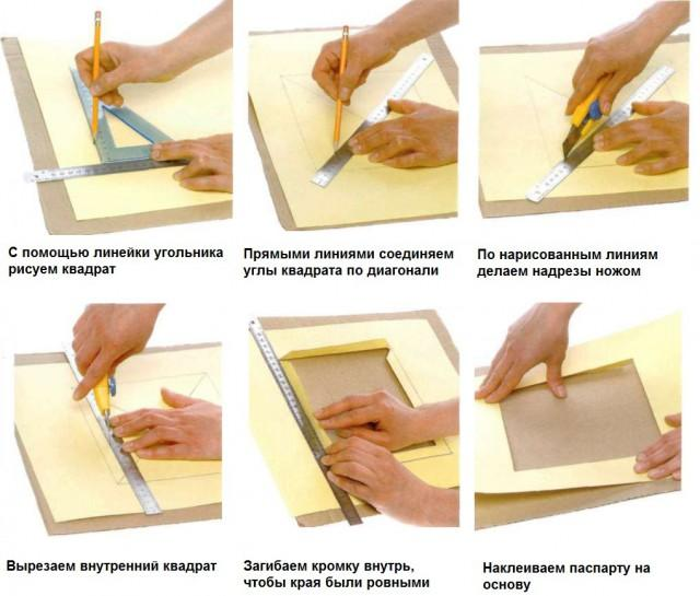 Как сделать паспарту своими руками фото