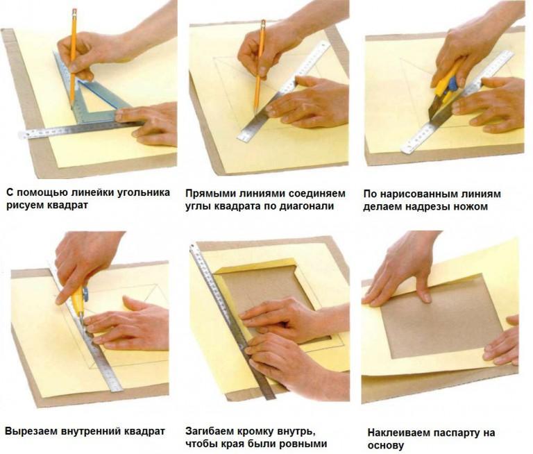 Как делать паспарту своими руками 994