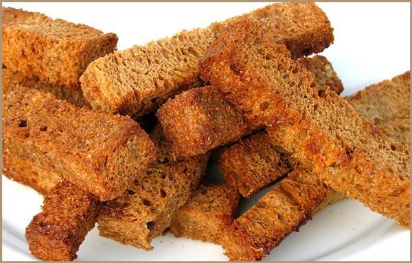 Сухари из черного хлеба в домашних условиях