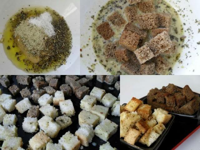 Как сделать сухарики с чесноком
