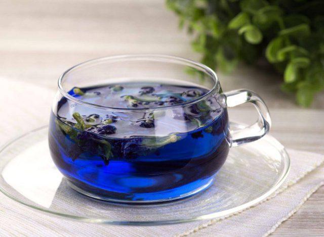синий чай свойства