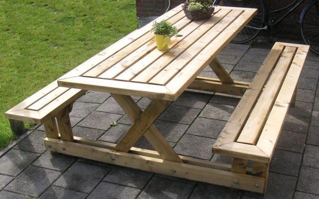 Деревянный стол своими руками на даче фото 339