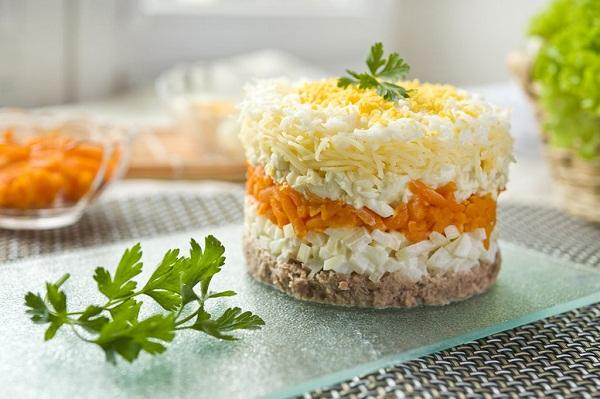 Салат мимоза с сыром видео
